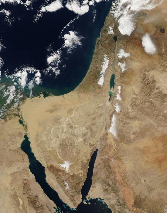 Nieve en Oriente Medio