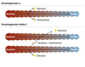 Desintegraciones beta y doble beta sin neutrinos