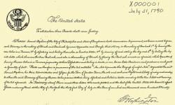Primera patente en EEUU