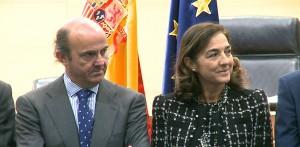 Luis de Guindos y Carmen Vela