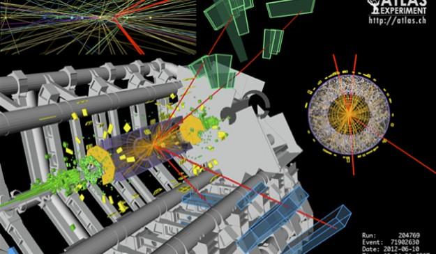 Firma del candidato a 'higgs' detectada por ATLAS.