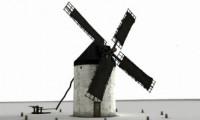 Reconstrucción en 3D de un molino de La Mancha