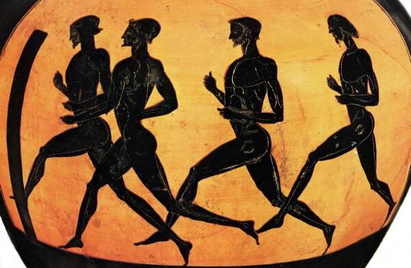 atletas griegos ampliar en los juegos olmpicos