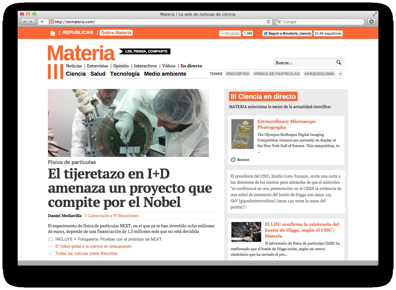 Materia | La web de noticias de ciencia