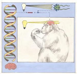 Recreación artística de la técnica de la optogenética.