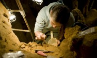 Excavaciones en la cueva asturiana de El Sidrón.