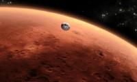 Imagen artística de la llegada de 'Curiosity' a Marte