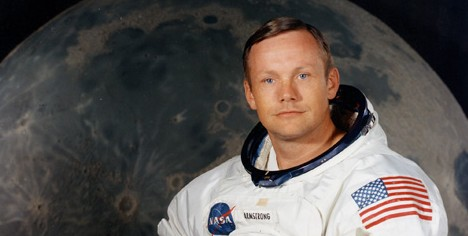 El astronauta Neil Armstrong.