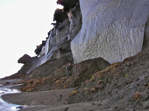 Una de las paradas para recoger muestras en la costa de Siberia