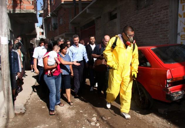 Operativo de prevención contra el dengue en Buenos Aires