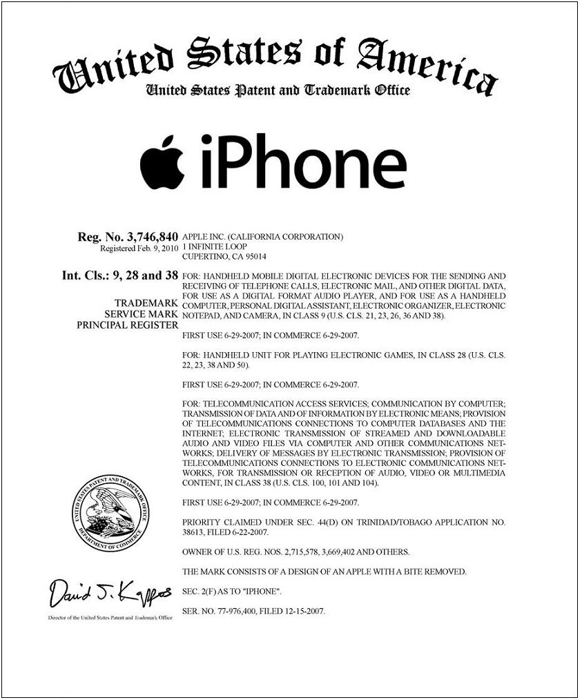 M s de mil patentes protegen el iphone materia for Oficina marcas y patentes