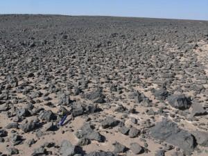 Una hamada en Irán con rocas similares a la de Marte