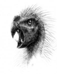 Recreación artística de 'Pegomastax africanus'