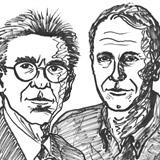 Lefkowitz (izquierda) y Kobilka.