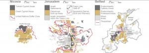 Mapas de ciudades divididas