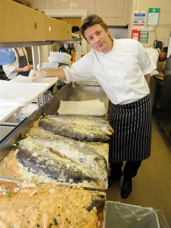 Jamie Oliver en la cumbre del G20 en 2009