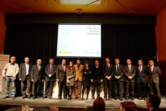 Foto de familia de la Gala de la Ciencia Española en el MUNCYT (A Coruña)