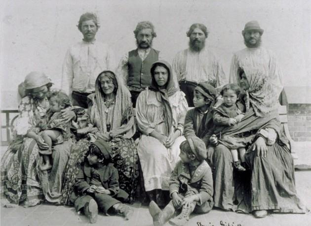 Una familia de gitanos eslovenos, a comienzos del siglo XX