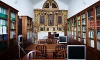Capilla del Palacio de Doñana convertida en biblioteca científica