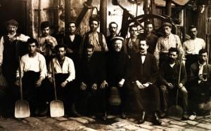 Trabajadores de Damm hacia finales del siglo XIX