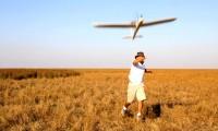 Lanzamiento de un avión no tripulado en Doñana