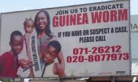 Campaña de erradicación de la dracunculiasis en un pueblo de Ghana