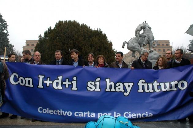 Protesta en Madrid contra los recortes en ciencia, el 19 de diciembre de 2012