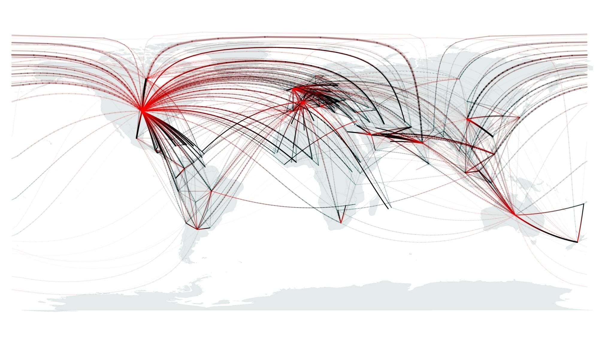 El primer mapa mundial de las migraciones del presente | Materia