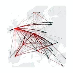 Mapa migraciones intraeuropeas