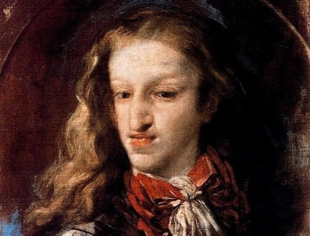El rey Carlos II, pintado por Claudio Coello hacia 1690