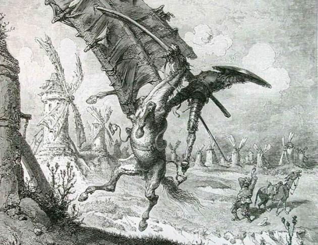 Ilustración de Don Quijote elaborada por Gustave Doré en 1861