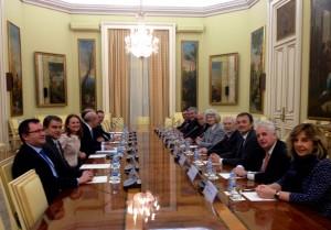 Reunión de la comisión de expertos presidida por Miras y por Wert