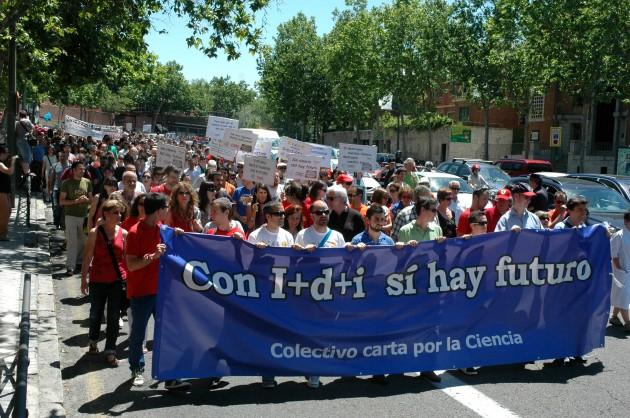 Manifestación de científicos, el pasado 14 de junio en Madrid.