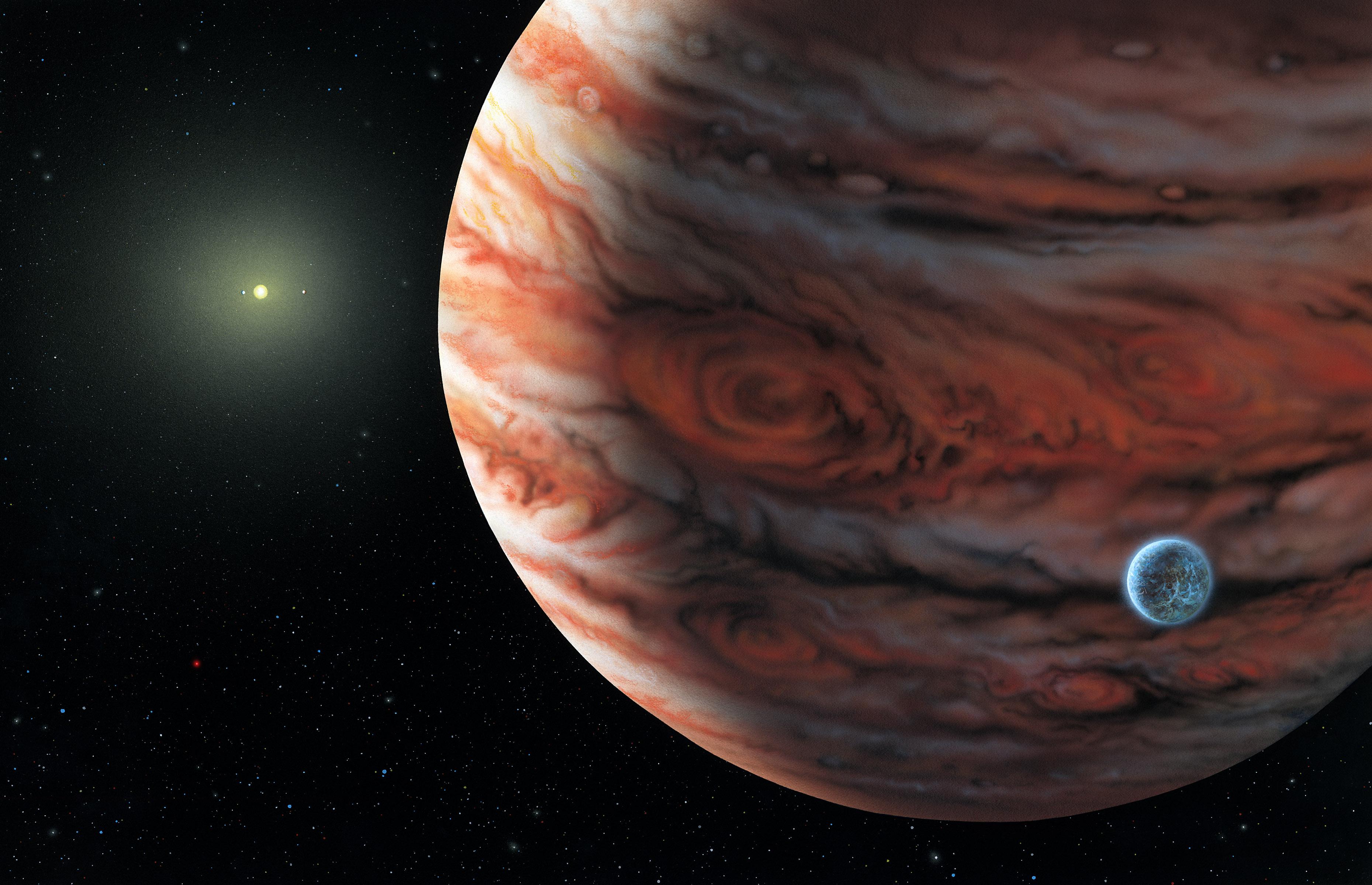 Mil planetas descubiertos en busca de nuevas Tierras Artist_s_impression_of_a_planetary_system_similar_to_our_own