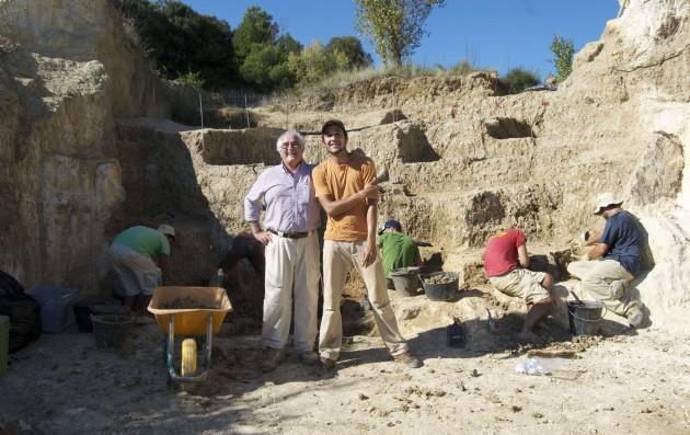 Bienvenido Martínez y Joan Madurell, codirectores del yacimiento de Incarcal