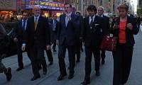 Mariano Rajoy, fumándose un puro en Nueva York el 25 de septiembre de 2012