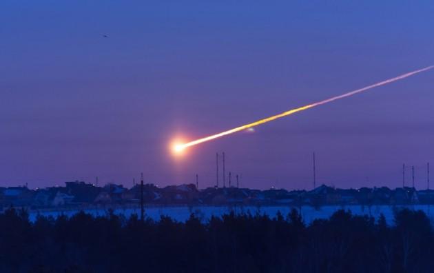 Imagen del meteorito de Cheliábisnk.