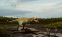 Recreación de un 'Siats meekerorum' comiendo una presa