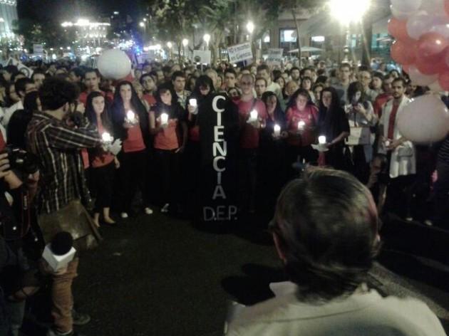 Imagen de la manifestación contra los recortes en ciencia, el pasado septiembre, en Madrid.