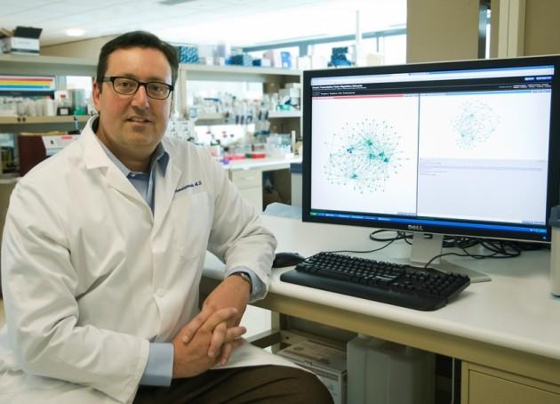 El investigador John Stamatoyannopoulos, en su laboratorio