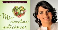 Cartel promocional de Odile Fernández y su libro