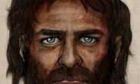 Recreación artística del cazador de ojos azules que vivió hace 7.000 años
