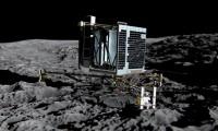 Impresión artística del robot Phillae posado sobre el cometa 67P/Churyumov-Gerasimenko.