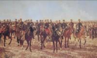 """""""Ocupación militar del Río Negro en la expedición al mando de Julio Argentino Roca"""" Juan Manuel Blanes (1889"""