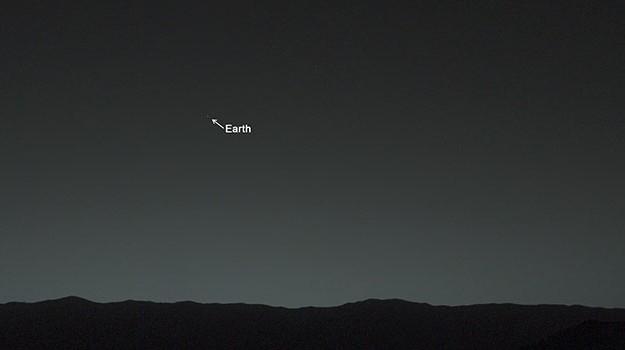 Imagen de la Tierra desde la superficie de Marte tomada por el Curiosity
