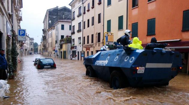 Inundación en Italia