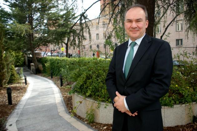 Tom Hockaday, durante su visita a Madrid