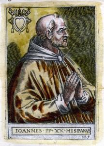 Retrato del Papa Juan XXI elaborado en el siglo XIX