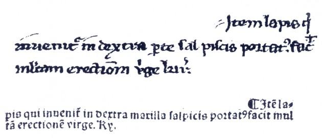 Mismo fragmento del 'Tesoro de los Pobres' en dos ediciones (finales del siglo XIII y 1530):