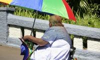 Una mujer obesa, en Estados Unidos.